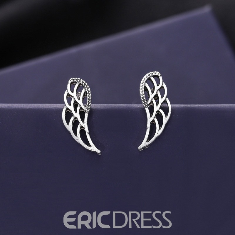 Ericdress Owl Wings 4 Pairs Earrings