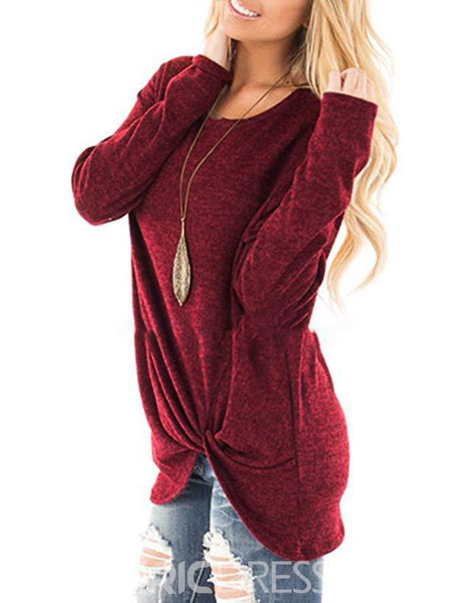 Ericdress Casual Mid-Length Asymmetric Pleated Cool Hoodie