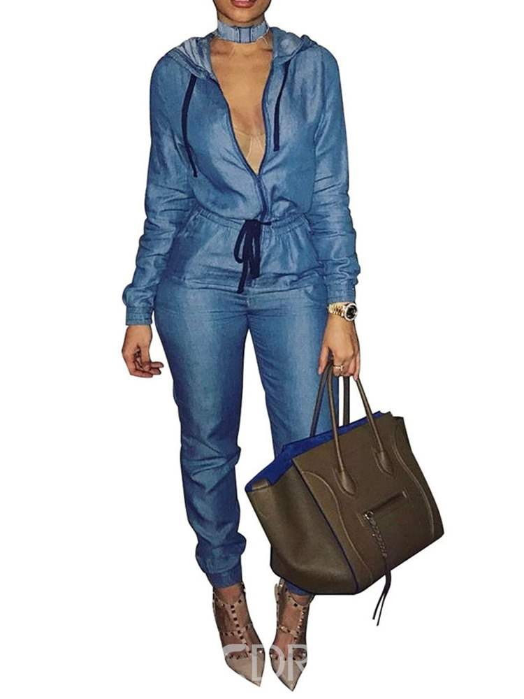 Ericdress Denim Slim Women's Jumpsuits