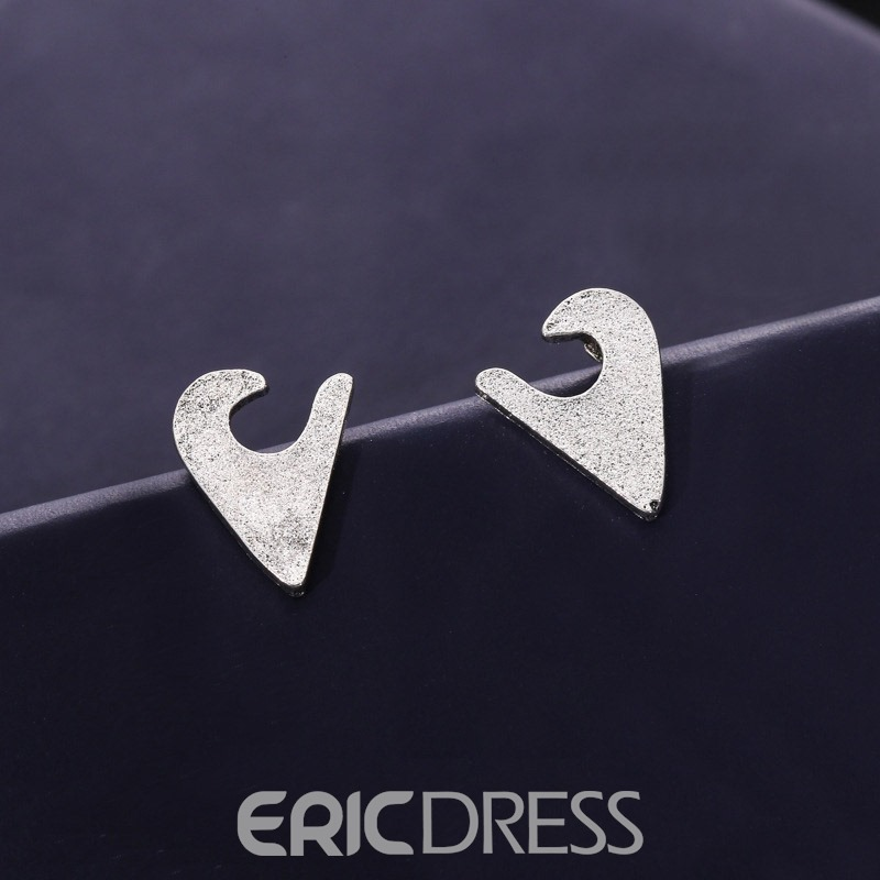 Ericdress Fishtail Gem Stud 6 Pair