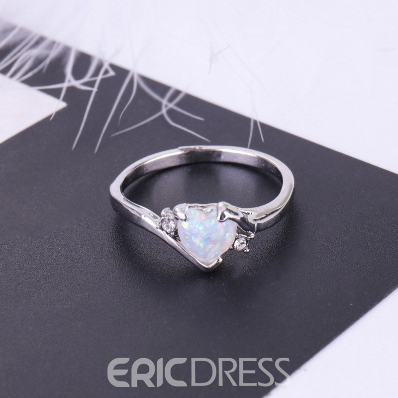 Ericdress Vintage Heart Opal Ring