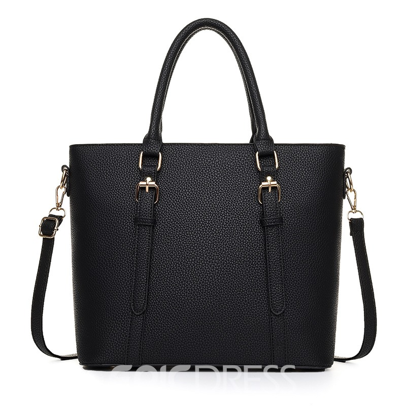 Ericdress Fashion Belt Decorated Barrel Shaped Women Tote Bag
