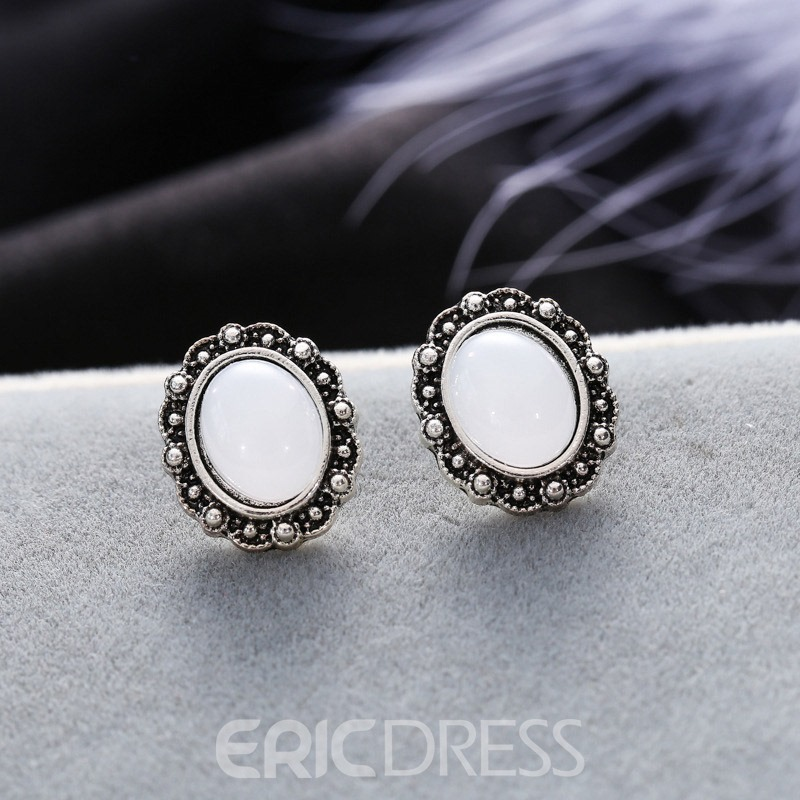 Ericdress Vintage Oval Stud Earrings Set(4 studs)
