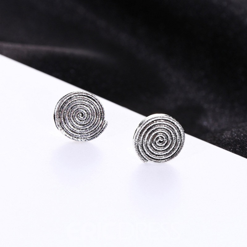 Ericdress Vintage 5 Pair Round Earrings