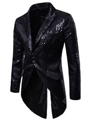 ericdress / Ericdress Asymmetric Sequin Notched Lapel Mens One Button Costume