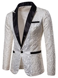 Ericdress coupon: Ericdress Printed One Button Notched Lapel Mens Tuxedo Blazer Costume