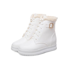 Ericdress Lace-Up Front Hidden Elevator Heel Snow Boots