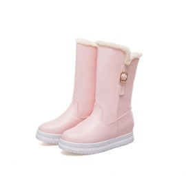 Ericdress Round Toe Hidden Elevator Heel Women's Snow Boots