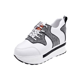Ericdress Patchwork Round Toe Hidden Elevator Heel Women's Sneakers