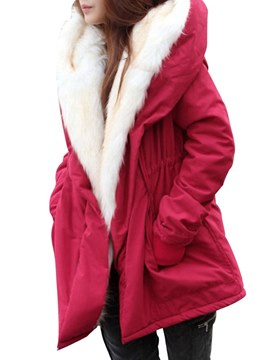 Ericdress Zipper Thick Casual Mid-Length Long Sleeves Coat