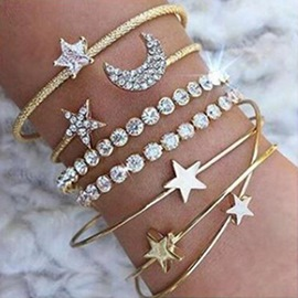 Ericdress Diamante Moon&Star Bracelets