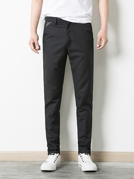 Ericdress Plain Slim Mens Casual Pencil Pants
