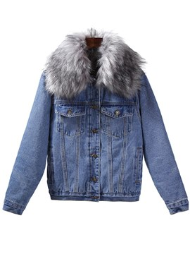 Ericdress Single-Breasted Casual Fur Jacket