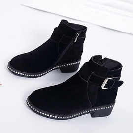 Ericdress Side Zipper Block Heel Women's Ankle Boots