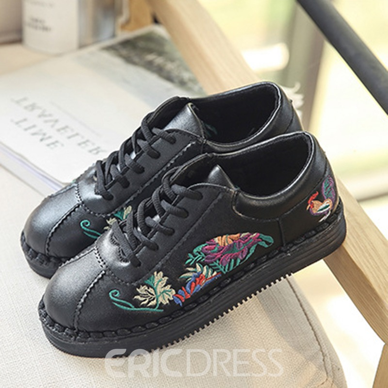 Ericdress Floral Embroidery Lace-Up Women's Skater Shoes