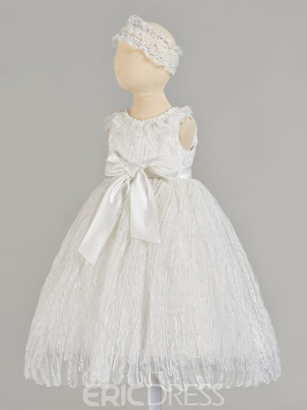 Ericdress A-Line Lace Baby Girl's Christening Gown