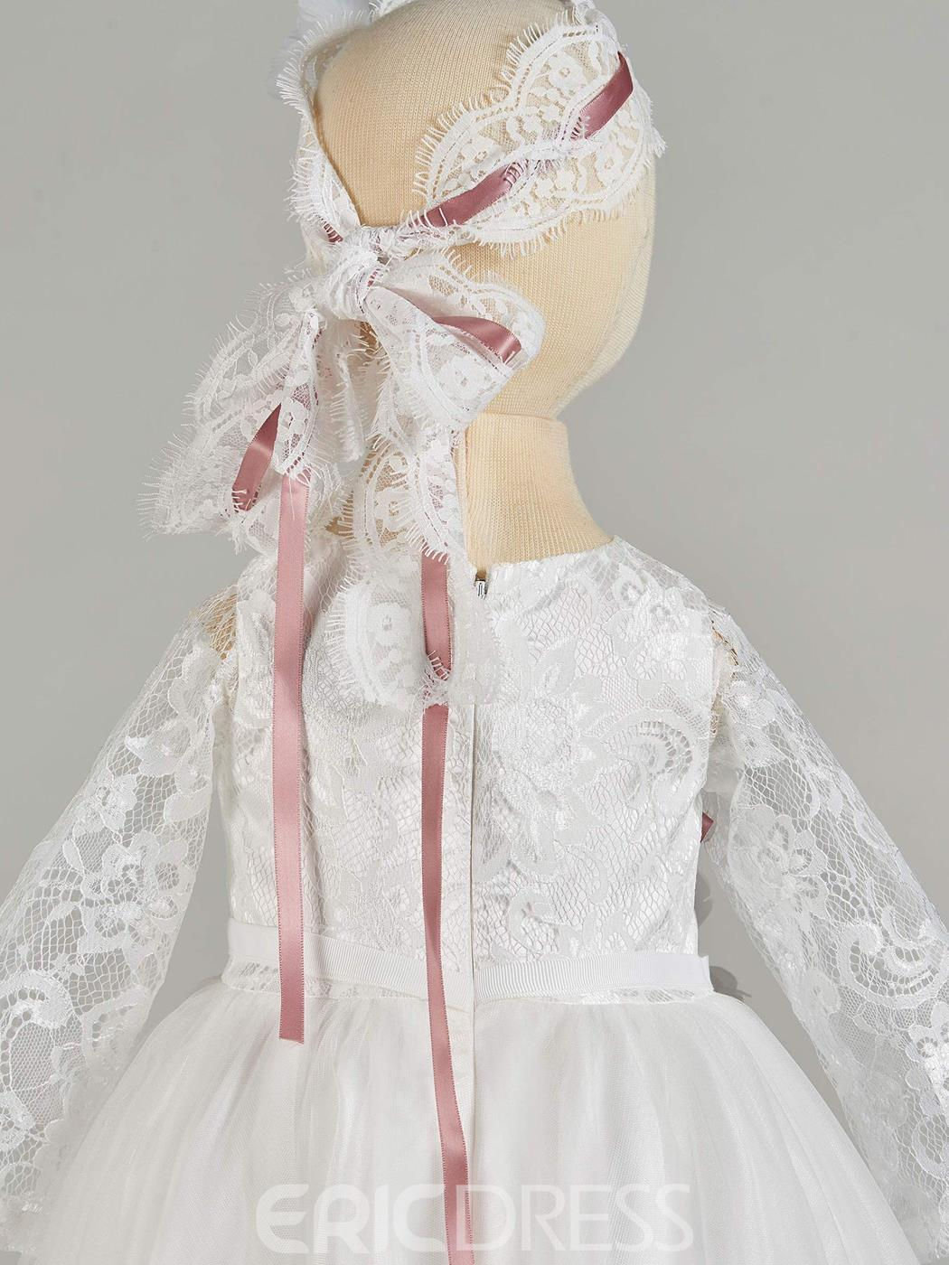 Ericdress Long Sleeve Lace Baby Girl's Christening Gown