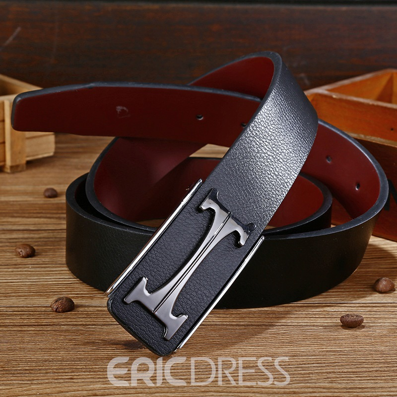 Ericdress Leather Smooth Buckle Men's Belts