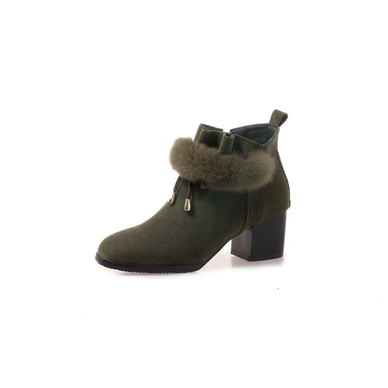 Ericdress Round Toe Chunky Heel Women's Ankle Boots
