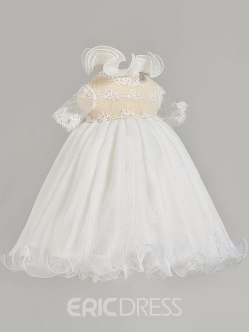Ericdress Short Sleeve High-Waist Baby Girl's Christening Gown