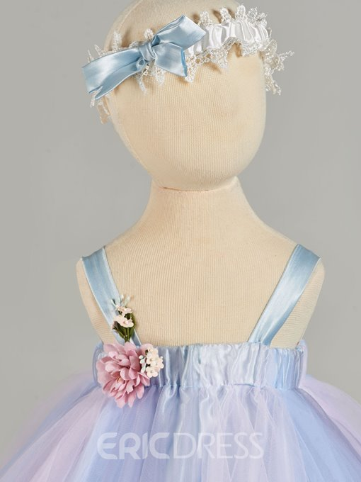 Ericdress A Line Straps Colorful Baby Girl's Christening Gown