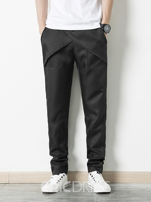 Ericdress Plain Lace Up Loose Mens Casual Sports Pencil Pants