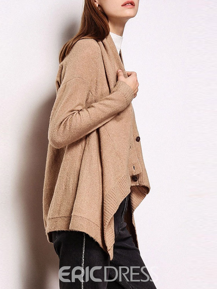 Ericdress Single-Breasted Thin Long Sleeve V-Neck Sweater