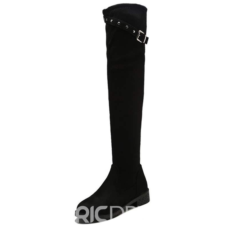 Ericdress Round Toe Block Heel Over The Knee Boots