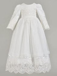 Ericdress Appliques Long Sleeve Baby Girls Christening Gown