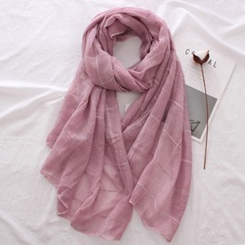 Ericdress Soft Solid Color Gauze Scarf