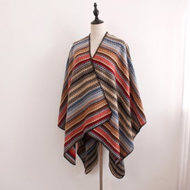 Ericdress Rainbow Winter Shawl