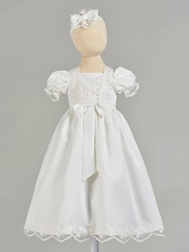 Ericdress A Line Puffle Short Sleeve Girl's Christening Gown