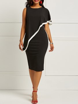Ericdress Plain Bodycon Knee-Length Women's Dress