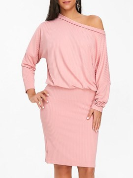 Ericdress Long Sleeves Bodycon Pullover Women's Dress