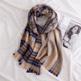 Ericdress Grid Warm Scarf