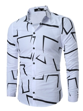 Ericdress Lapel Vogue Men's Shirt