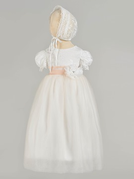 Ericdress A Line Short Sleeve Girl's Christening Gown
