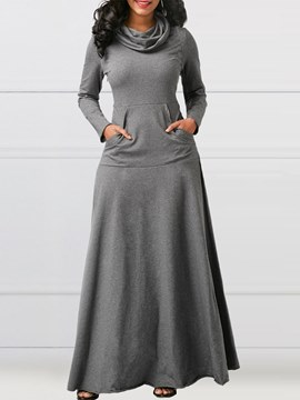 Ericdress Heap Collar Long Sleeves Women's Dress
