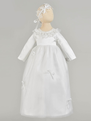 Ericdress Bownot Pearl Long Sleeve Baby Girl's Christening Gown