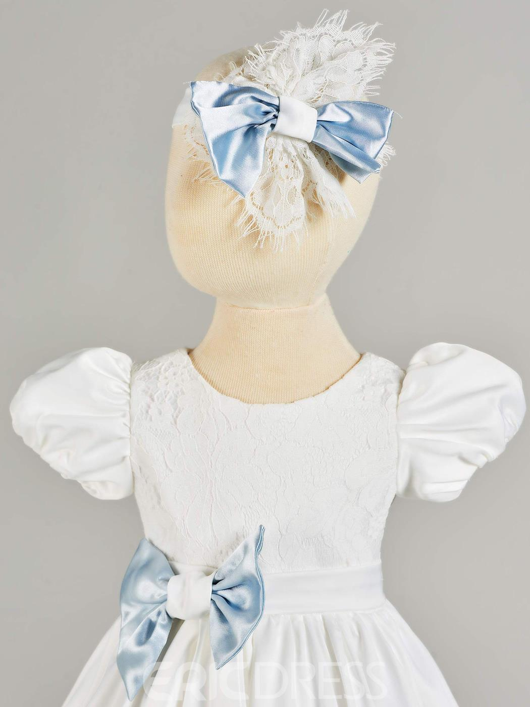 Ericdress A Line Short Puffle Sleeve Baby Girl's Christening Gown