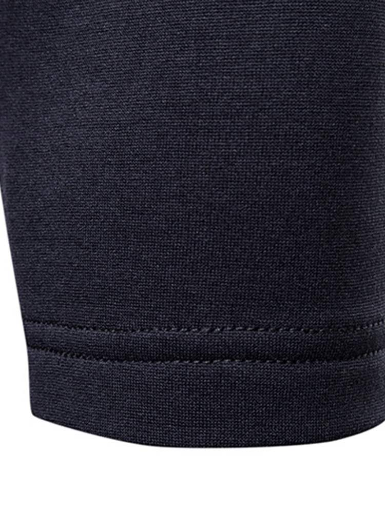 Ericdress Patchwork V-Neck Button Mens Casual Long Sleeve T Shirts