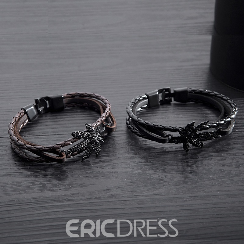 Ericdress Leaf Knit Men's Bracelets