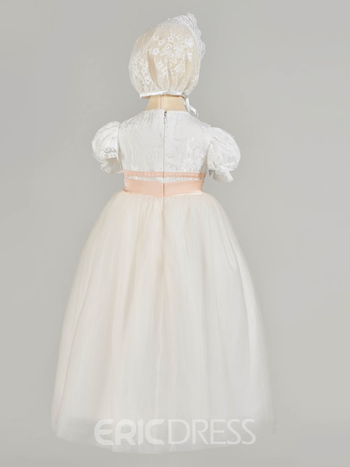 Ericdress Lace Short Sleeve Baby Girl's Christening Gown