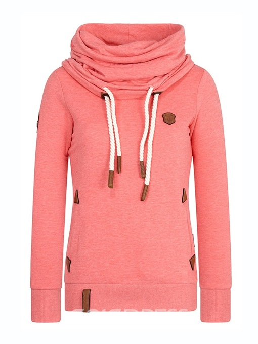 Ericdress Heap Collar Plain Patchwork Cool Hoodie