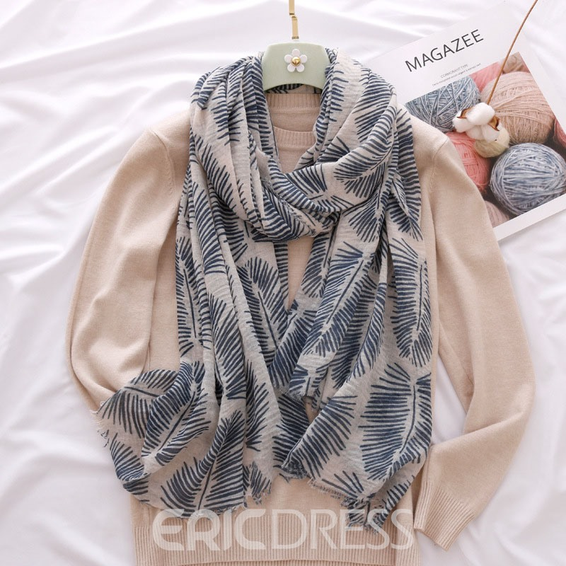 Ericdress Soft Leafage Scarf For Women