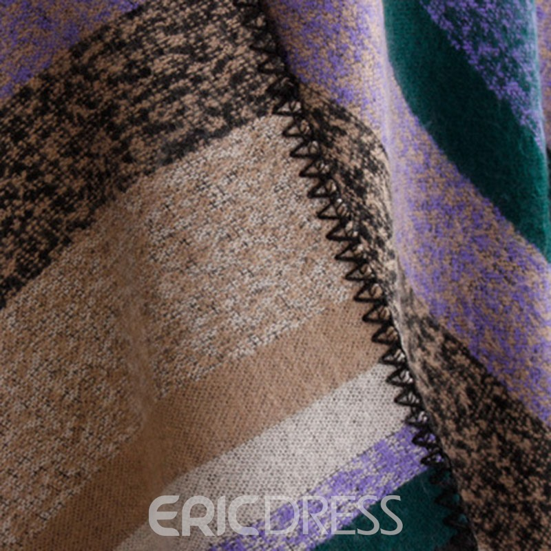 Ericdress Tippet Color Stripe Shawl Scarf For Women