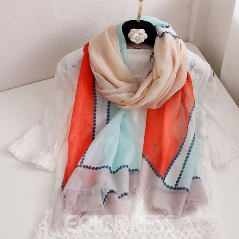 Ericdress Color Block Scarf For Women