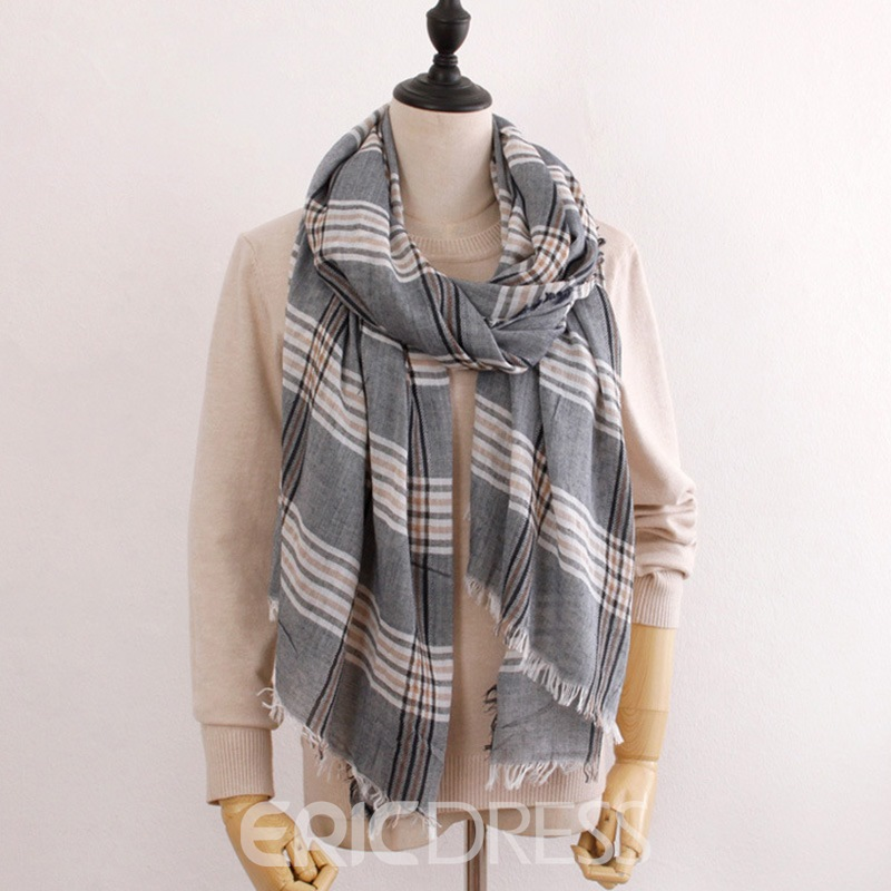 Ericdrss Grid Scarf For Women