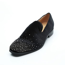 Ericdress Rhinestone Round Toe Slip-On Men's Oxfords