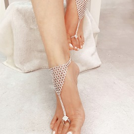 Ericdress Diamante Shining Anklets For Women
